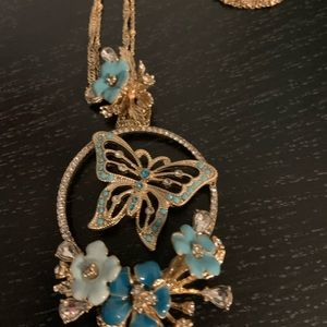 Badgley Mischka Butterfly Necklace